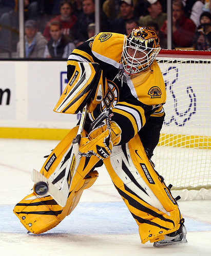 Tim Thomas shooting for the number one position.