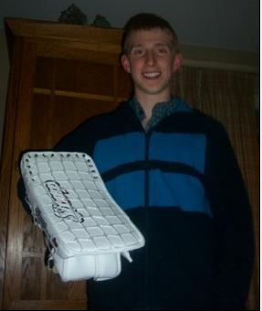 Trevor Leahy shows off his patent-pending design.  Notice the raised effect of the mesh pattern giving it a more realistic look.